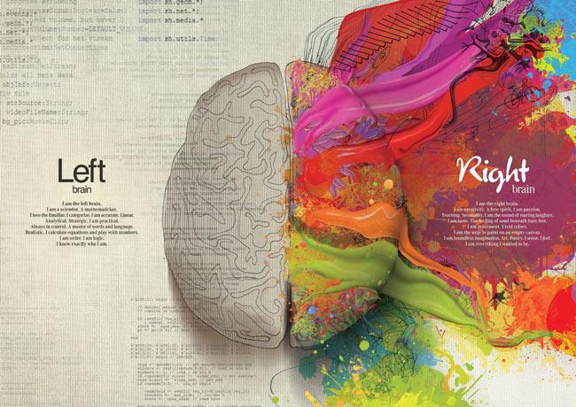 نتیجه تصویری برای تصاویر برای نیم کره ی راست مغز